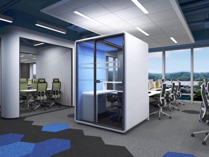 Jak dopasować akustykę do stref biurowych? - Hush Office