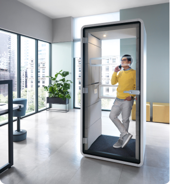 Acoustic phone booth for office hushPhone Hushoffice