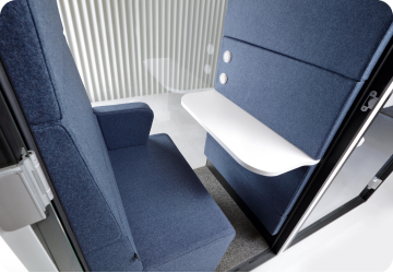 A double acoustic office pod for solo work hushTwin Hushoffice