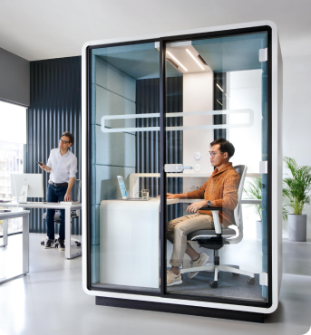 A single user acoustic office workpod hushWork Hushoffice
