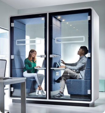 A double acoustic office pod hushTwin Hushoffice