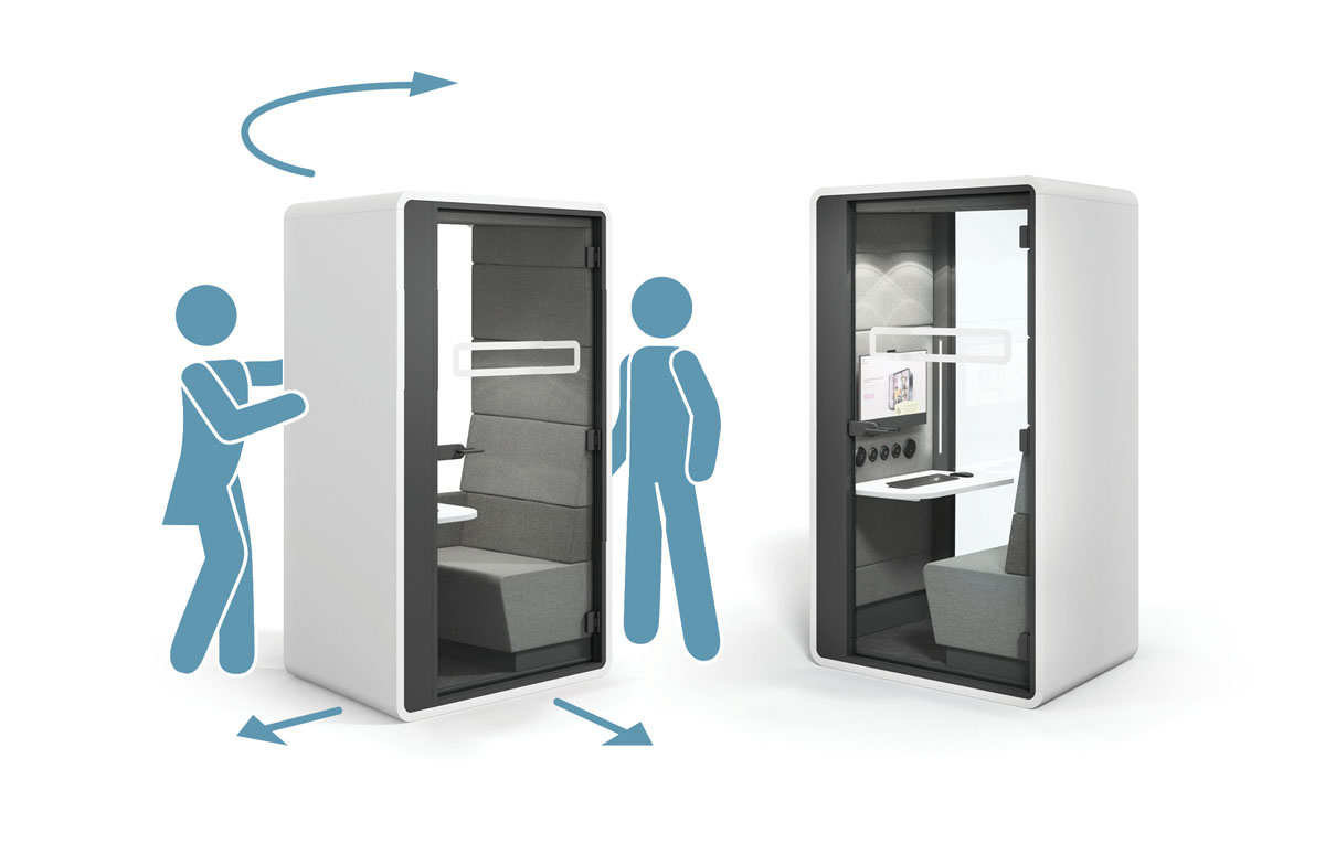 Think of hushHybrid as a mobile video conference room.