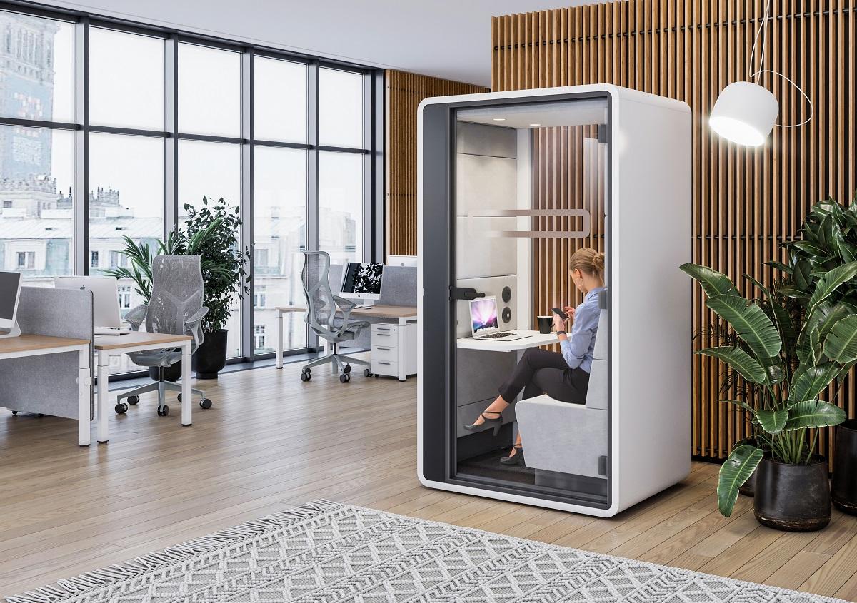 So… what's it like inside hushHybrid office pod?