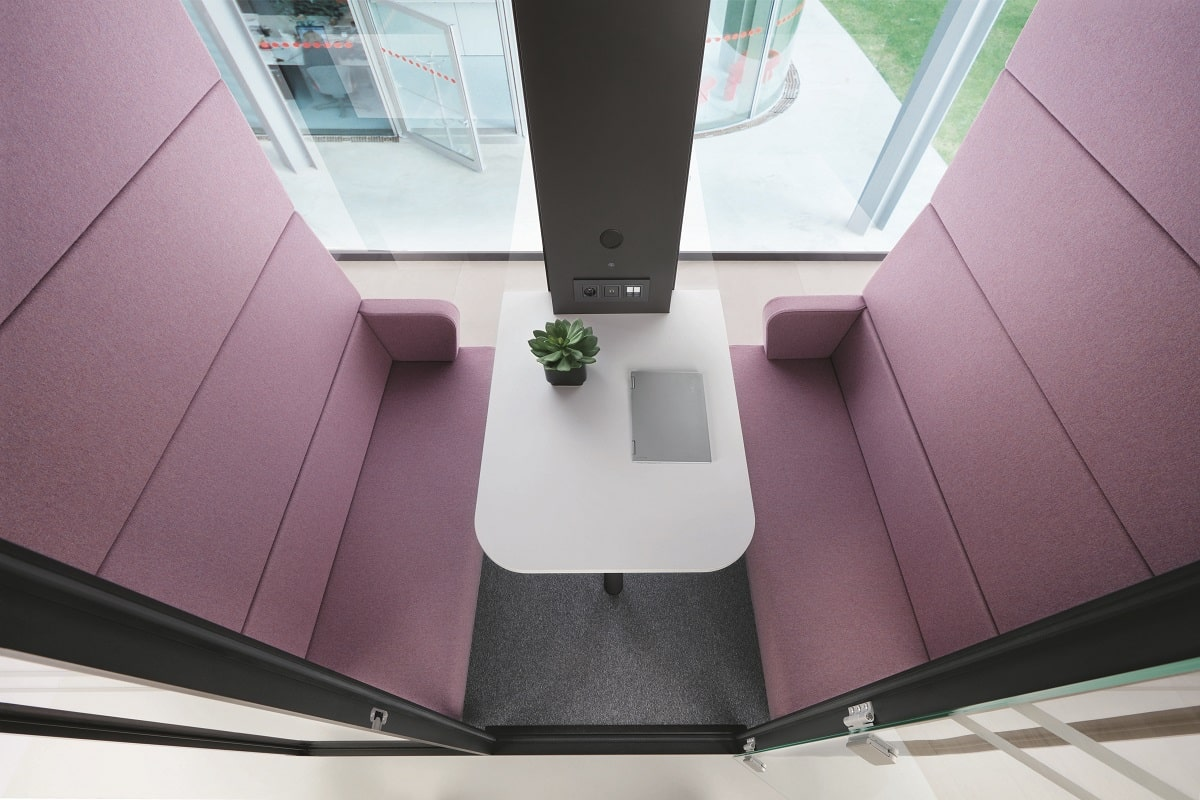 Enclosed and coated in an Anti Virus solution, hushMeet is a safe space for collaborative working in the office.